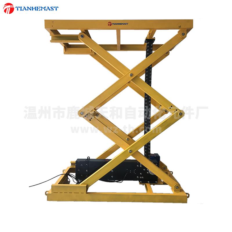 plate-forme élévatrice à ciseaux de la chaîne rigide