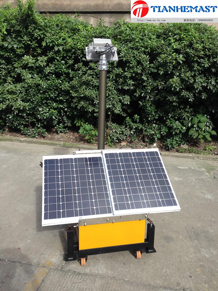 Kleiner Solarmobil Leuchtturm