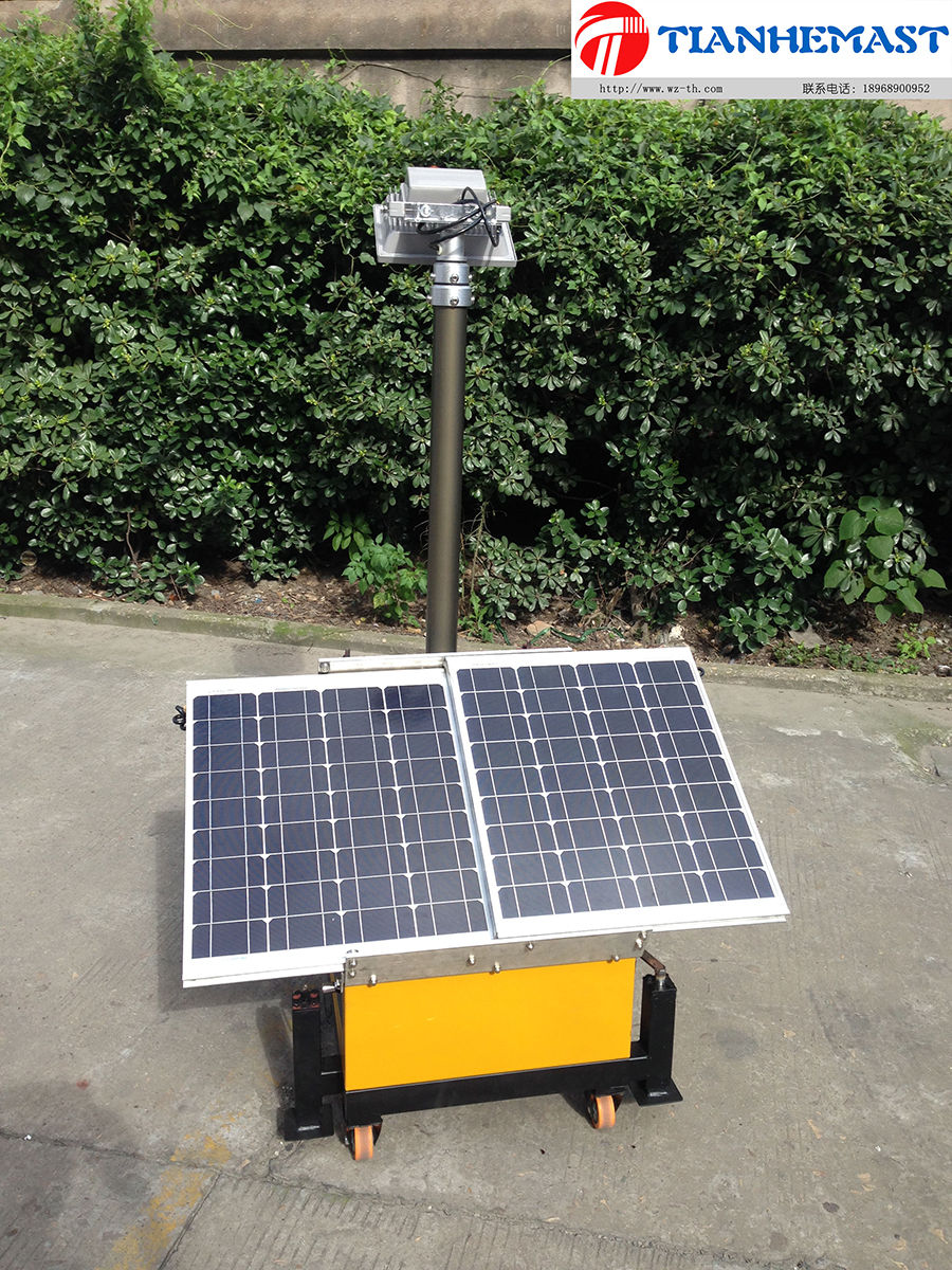Pequeño faro móvil solar