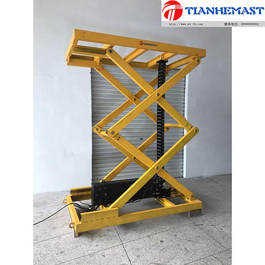 Tijera plataforma elevadora de cadena rígida