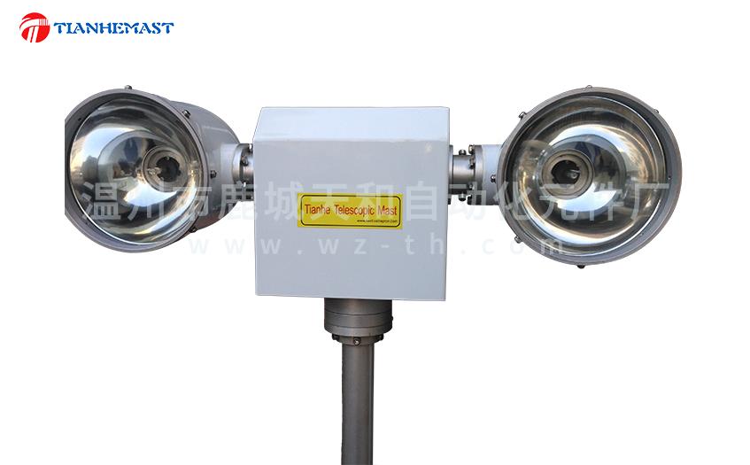 Las luces de elevación se utilizan principalmente para iluminación de emergencia en varias ocasiones.,La lámpara se eleva a gran altitud levantando el mástil,Para lograr mejores efectos de iluminación。